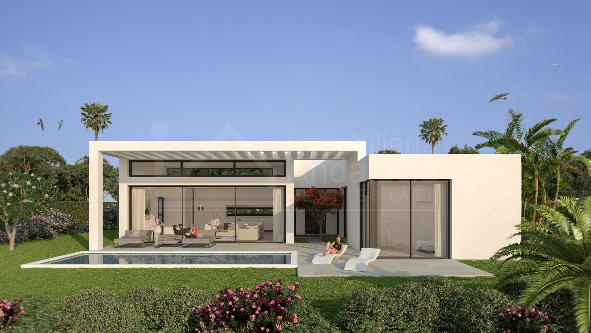 Ultra-modern three-bedroom villa for sale on the Atayala Golf & Country Club in Estepona