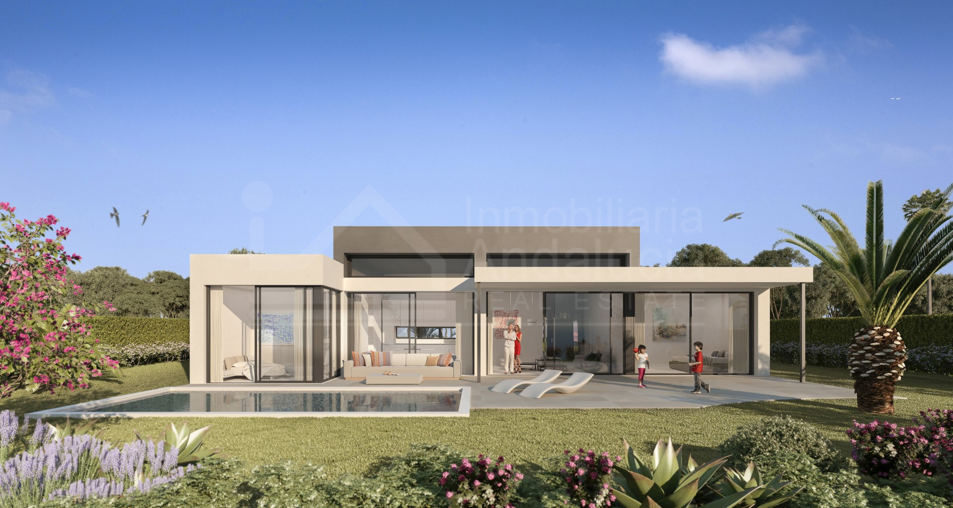 Luxury modern three bedroom villa for sale close to the Atalaya Golf & Country Club