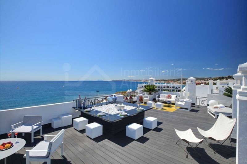 Luxury 5-bed duplex penthouse beach apartment for sale in Estepona