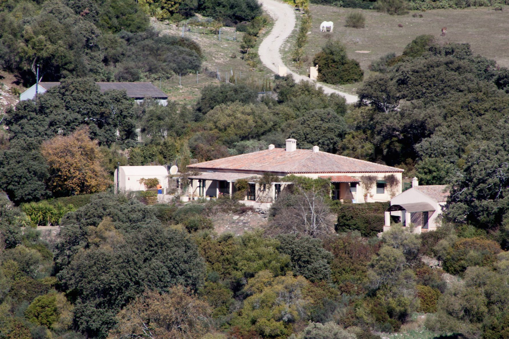Very private house set in stunning countryside with 38.500m2 of land for sale in Gaucin