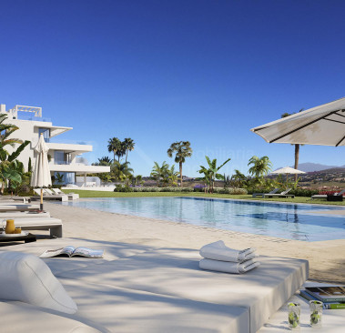 Estepona, Brand new contemporary three-bed apartment for sale on the New Golden Mile