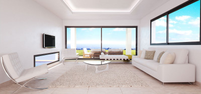 Estepona, Spanking new luxury contemporary 3-bedroom villa for sale in a golf complex in Estepona