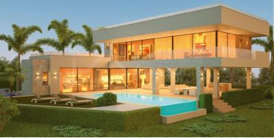 Benahavis, Nueva villa de estilo moderno con 5 dormitorios en venta en La Alquería, Benahavís