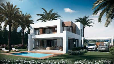 Estepona, Brand new luxury contemporary 4-bedroom villa for sale in El Paraíso Golf, Estepona